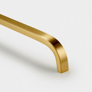 Solid Brass Gold Door And Drawer Bar Handles 96mm 128mm 160m 288mm 448mm 632mm