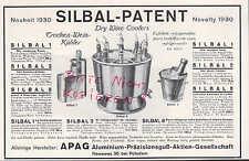 NOWAWES-POTSDAM, Werbung 1930, APAG Aluminium-Präzisionsguß AG SILBAL-Patent