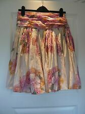 FRENCH CONNECTION Indian Cotton Skirt Flowers & Sequins Size 8 Summer Holiday