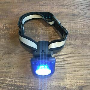 PupLight Reflective Flashlight Collar BLUE safe walks lights 15 FT size M L XL