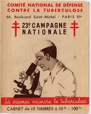 CARNET 10 VIGNETTES 23° Campagne contre TUBERCULOSE  Année 1953  NEUF**