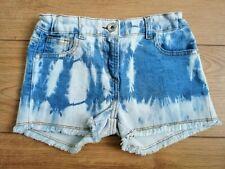 Girls Tie Dyed Denim Shorts Age 7-8 Years