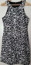 CUE IN THE CITY Black & White Summer Work Party Dress. Size 10.