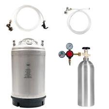 Keg Kit: 3 Gal Ball Lock Beer Keg, 5 lb CO2 Tank, Regulator & Parts - SHIPS FREE
