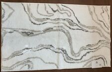 """Hotel Collection White & Beige Large 30"""" X 50"""" Cotton Bath Rug"""
