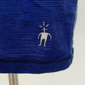 SmartWool men's Merino Wool Crew Neck Short Sleeve Shirt Base Layer Blue Medium