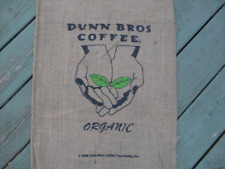 Burlap Coffee Bag Outstreched Hands, Organic Dunn Bros Gunny Sack Coffee