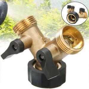 2-Wege 3/4 Zoll Y Verteiler für Zwei Zulaufschläuche Wasseranschluss Verteiler