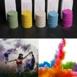 5x Mini Colourful Magic Smoke Bombs Tricks Colour Pyrotechnics Background party