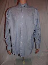vtg Brooks Brothers Original Polo Dress Shirt blue striped btn down sz 16-36