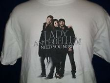 Lady Antebellum Need You Now T-Shirt Size L White Promotional NEW