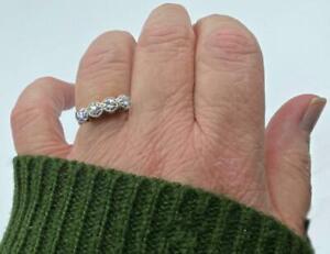 Charming Estate .25 Pt Diamond & 14k  Ring Band Wedding Engagement Sz 7 1/2