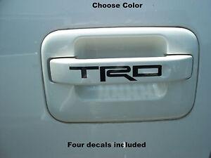 """TRD"" Decals (4) Door Handle FITS: Toyota Tacoma Tundra FJ Cruiser"