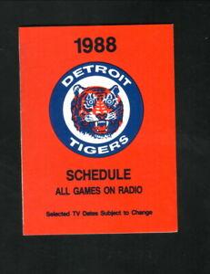 Detroit Tigers--1988 Pocket Schedule--WCUZ