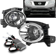 NEW DRIVING FOG LIGHTS LAMPS CHROME W/50W 6K HID+SWITCH FOR 2013-2016 PATHFINDER