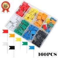 160 Pieces Push Pins Map Flag Push Tacks, Assorted 7 Colors - AU STOCK