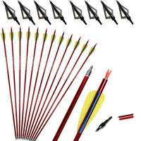 """31"""" Archery Hunting Aluminum Arrows Compound Recurve Bow Longbow Shooting Target"""