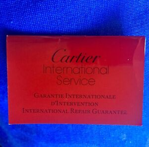Cartier International Service Guarantee Booklet