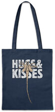 HUGS & KISSES Stofftasche Einkaufstasche XOXO Fun Nostromo Alien Face Hugger