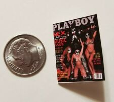 "Miniature Dollhouse book magazine 1"" 1/12 scale Playboy Bunny Kiss Gene Simmons"