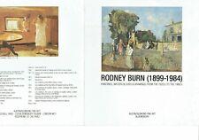 Rodney Joseph Burn 1899 - 1984 Austin Desmond Exhibition catalogue 1984?