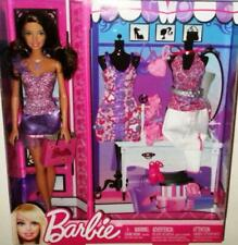 "Barbie Fashion Brunette Teresa Doll 3 Outfits Accessories Shoes Purses 11.5"" New"