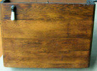 Vintage Antique WOODEN OVER THE TOILET WALL MOUNT WATER TANK All Orig. plumbing