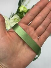 Sage green satin ribbon double faced wedding gift bow card khaki berisfords wide
