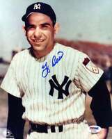 Yogi Berra Psa Dna Coa Hand Signed 8x10 Photo Autograph 3