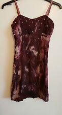 Ref 100 - Y LONDON - Ladies Womens Girls Purple Summer Party Day Dress Size 14