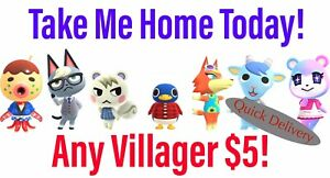 Animal Crossing Villager Quick Move-In! Raymond Judy Audie Dom Sherb Cyd Reneigh