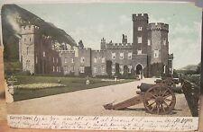 Irish Postcard GARRON TOWER Carnlough Antrim Northern Ireland 1907 to Boston udb