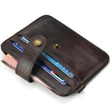 New Men Mini Leather Wallet Slim Credit Card ID Card Holder Purse Money Clip