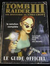 SOLUCE COMPLETE GUIDE OFFICIEL TOMB RAIDER III 3 PLAYSTATION 1 PS1 PSONE PC