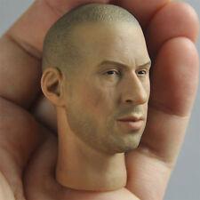 "1/6 scale Head Sculpt Vin Diesel Fast & Furious 7 DominicToretto Fit 12"" figure"