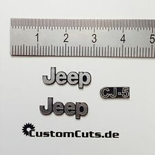 Jeep Wrangler cj-5 emblemas para axial rc4wd Tamiya 1:10 RC mangos decal sticker