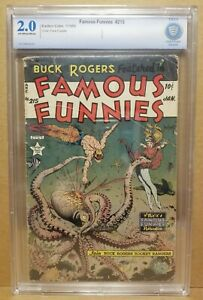 FAMOUS FUNNIES #215 CBCS 2.0 CLASSIC FRANK FRAZETTA OCTOPUS BUCK ROGERS COVER