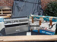 Rare Vintage Sharp Gf-555 Double Cassette Boombox Ghetto Blaster w/Box Used