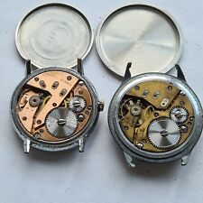 Lot of 2 Omikron 21J  Swiss Vintage military Caliber: AS 1130, ca: 1960',working