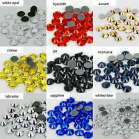 Flatback white AB Iron on rhinestones Hotfix stones glass crystals for clothing