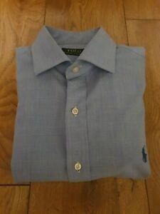 """Men's Ralph Lauren Light Blue Long Sleeve Shirt Size 39 - 15.5 """""""