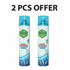 2x CLIPPERS SCISSORS METAL MATERIALS TOOLS CLEANING SPRAY %80 ALCOHOL 300 ML