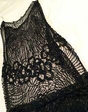 Flapper Dress Sheath 1920s Beaded VGC