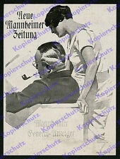 orig Reklame Ludwig Hohlwein Mannheim Zeitung General-Anzeiger Grafik Lesen 1934