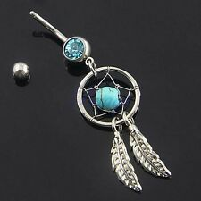 PIERCING NOMBRIL ATTRAPE ATTRAPEUR REVE DREAMCATCHER Belly Ring Navel Jewelry HG