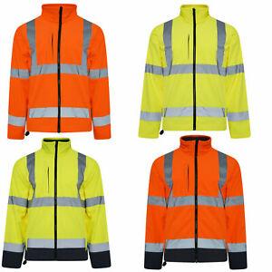 Reflective High Visibility Hi Vis Viz Work Soft Shell Jacket Premium Supertouch