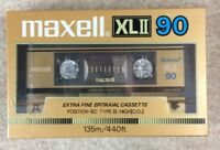 1 Maxell XLII 90 Epitaxial Blank Cassette Audio Tape Extra Fine Position IEC.