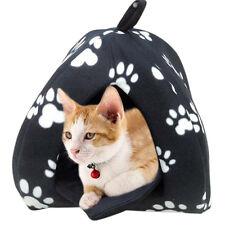 Pet Hut! Cat Dog Rabbit Bed Igloo Soft Warm Thermal Fleece Winter Luxury B Uylj