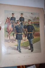 Aleshire 1908 Original Vintage Print of the US Army Uniforms by Ogden