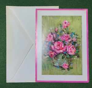 "vintage Greeting Card ""Congratulations"" 70s art nostalgic UNUSED with envelope"